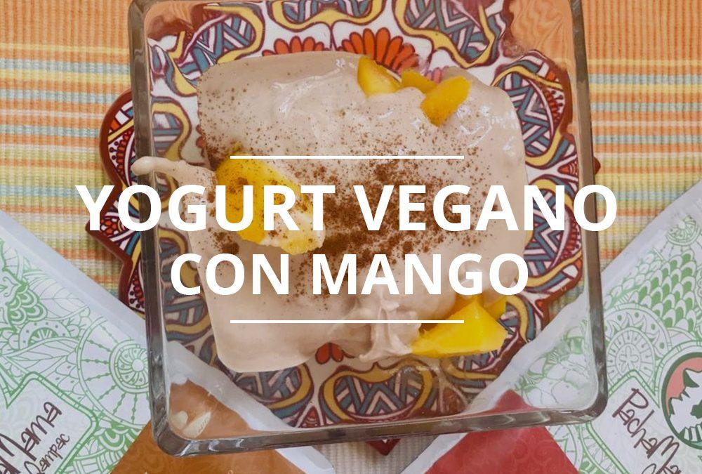 YOGURT VEGANO CON MANGO